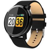 Newwear Q8, smartwatch pentru Android si IOS, puls, 150 zile standby, Otel inoxidabil, Negru, watchOS