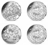 """Franta seria """"Mickey Mouse"""" 2 monede argint x 50 euro 2018 in foldere oficiale, Europa"""