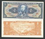 BRAZILIA 2 CRUZEIROS 1954 ( 1953 -1959 )  UNC  [1]  P-151b  ,  necirculata