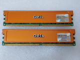 Memorie GeIL Ultra 2GB (2 x 1GB) 240-Pin DDR2 800 (PC2 6400)  - poze reale, DDR 2, 1 GB, Dual channel