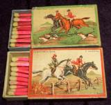 1935 Calarie - 2 cutii de chibrituri romanesti din lemn, Chibriturile S.A.R.