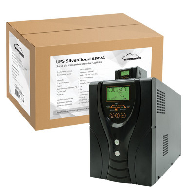 Resigilat : UPS SilverCloud 850VA cu ecran LCD sinusoida pura pentru centrale term foto