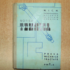 NOTITA TEHNICA-PRESA MECANICA TRACTATA PMT-5