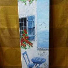 La mare in vacanta-pictura ulei pe panza;, Peisaje, Altul