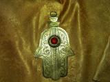 Decoratiune Hamsa, alama, gravura manuala, colectie, cadou, vintage