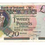 SV * Irlanda  TWENTY POUNDS  / 20 LIRE 2005   INAINTE DE INTROD.  EURO    +/- XF