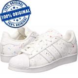 Adidasi barbat Adidas Originals Superstar - adidasi originali - piele naturala, 46, Alb
