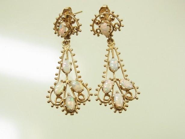 Cercei Aur 14K Vintage Pietre Opal Reducere