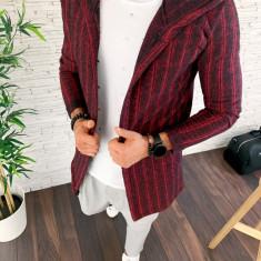 Cardigan pentru barbati GRENA - LICHIDARE DE STOC - slim fit - cod A2871 102-3, L, M, S, XL, Bumbac, Din imagine