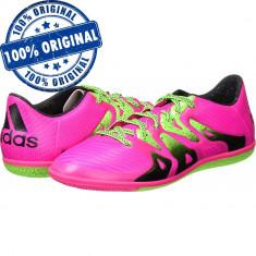 Pantofi sport Adidas X 15.3 pentru barbati - adidasi originali - fotbal, 42 2/3, Roz