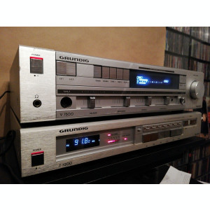 Linie Audio: Amplificator +Tuner - GRUNDIG V7500 +T7200 - Vintage/Stare Perfecta