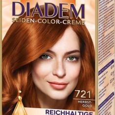 Schwarzkopf Diadem Seiden Color Creme-Herbst Gold 721, Blond, Semi-permanenta
