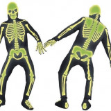 Costum Halloween Schelet fosforescent pt 9-12 ani