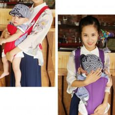 Marsupiu pentru bebelusi si copii multifunctional, mov, pana la 15 kg, Violet