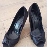 Pantofi, 37, Negru, Cu toc