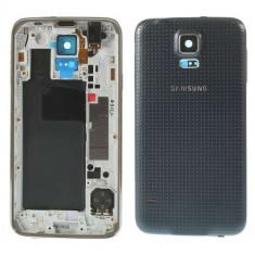Carcasa Corp Mijloc Samsung Galaxy S5 Cu Capac Baterie Spate Originala Gri