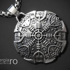 Pandant Amuleta Talisman Pandantiv Roata Norocului INOX - cod PND108