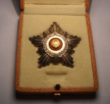 Ordinul Steaua Romaniei Clasa a 5 a RSR la Cutie de ARGINT Marcat