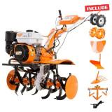 Motosapatoare Ruris 731ACC + roti cauc + rarita + plug + adaptor + dispozitiv scos cartofi + roti met 400 fara manicot+cultivator