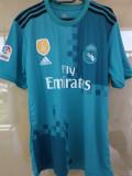 Tricou Turcoaz Real Madrid 2018, L, M, S, XL, XS, Maneca scurta, Verde, Adidas