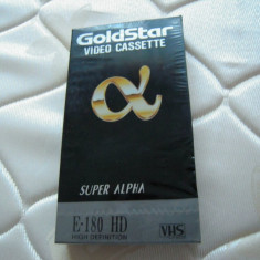Caseta video VHS GOLDSTAR Super Alpha High Definition E180