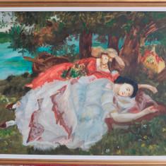 Pictură pe pânză, reproducere după Gustave Courbet (1819-1877), Scene gen, Ulei, Realism