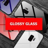Husa Glass Duo cu spate din sticla Samsung Galaxy A6 2018 / A6+ 2018 / A6 Plus, Alt model telefon Samsung, Alb, Negru, Rosu, Roz, Gel TPU