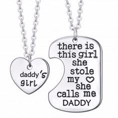 Set pandantive Daddy's little girl