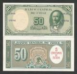 CHILE  5  CENTIMOS de ESCUDO pe 50 PESOS - 1960  UNC  [1] P-126b.1 , necirculata