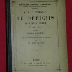 M. T. Cicero - De officiis libri tres  : ad Marcum filium ed. critica latina