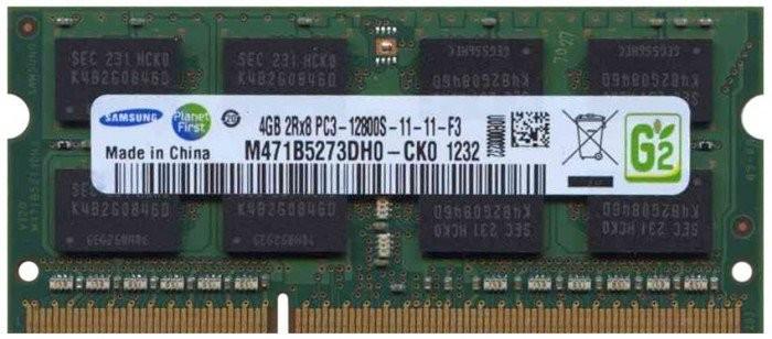 Memorie Laptop Samsung 4GB DDR3 PC3-12800S 1600Mhz M471B5273DH0