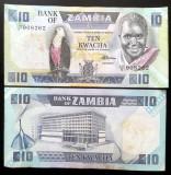 ZAMBIA 10 kwacha 1980-88 aproape noua!