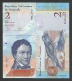 VENEZUELA 2 BOLIVARES  27.12. 2012  UNC   [1]  P-88e  ,  necirculata