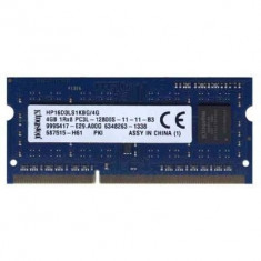 Memorii Laptop SODIMM Kingston 4GB DDR3 PC3L-12800S 1600Mhz 1.35V