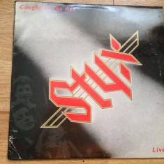 STYX - CAUGHT IN THE ACT LIVE (2LP, 2 VINILURI , 1984,A&M,UK) vinil vinyl LP