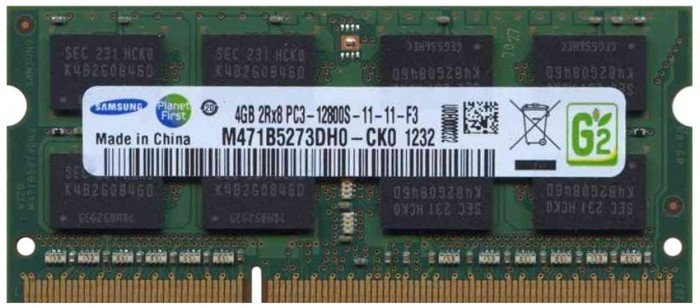 Memorii Laptop Samsung 4GB DDR3 PC3-12800S 1600Mhz 1.5V