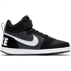 Ghete Copii Nike Court Borough Mid SE AR1564007, 22, 23.5, 25 - 27, Negru