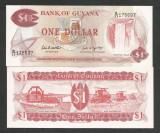 GUYANA   1  DOLLAR   1989  UNC   [1]  P-21f  ,  necirculata