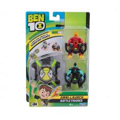 Ceas Omnitrix lansator si 2 figurine de lupta - Torta Vie si XLR8