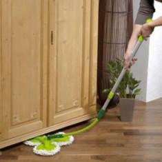 Mop de praf cu 3 roti,maner flexibil