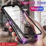 Husa cu prindere magnetica pt iPhone 7 plus , 8 plus, iPhone 7/8 Plus, Argintiu, Negru, Rosu, Metal / Aluminiu
