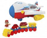 Jucarie baieti avion de marfa cu lumini si sunete, 2-4 ani, Plastic