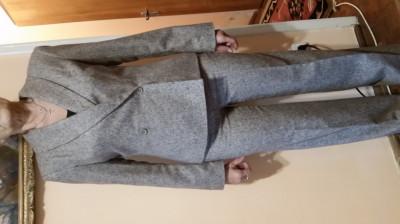 Compleu casual,office, din lina cu jerseu, firma Dika, marimea 40,elegant foto