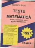 Teste de matematica pentru admitere in liceu si scoli profesionale