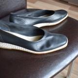 Pantofi de vara cu platforma mica, marimea 40, Negru