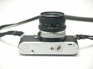 Pentax ME Super + obiectiv Tokina 35mm f2.8