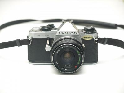 Pentax ME Super + obiectiv Tokina 35mm f2.8 foto