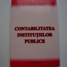 Contabilitatea institutiilor publice - Aleodor Sosdean, Alta editura, 2001