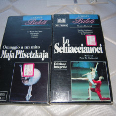 LOT de 2 Casete video VHS originale cu balet, provenienta Italia