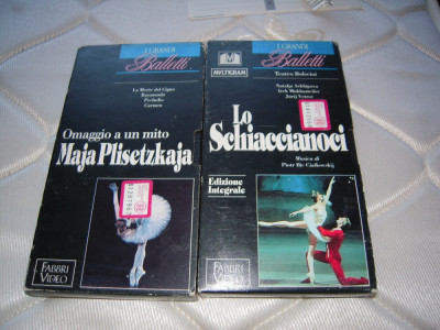 LOT de 2 Casete video VHS originale cu balet, provenienta Italia foto